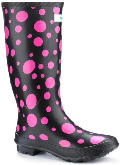funky pink black rain boots fashion footwear for women