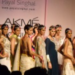 Shibani Dandekar as Show Stopper at Payal Singhal's Show at Lakme Fashion Week 2012