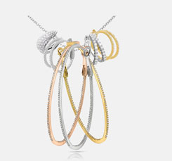 Buy latest design Diamong loop earrings online