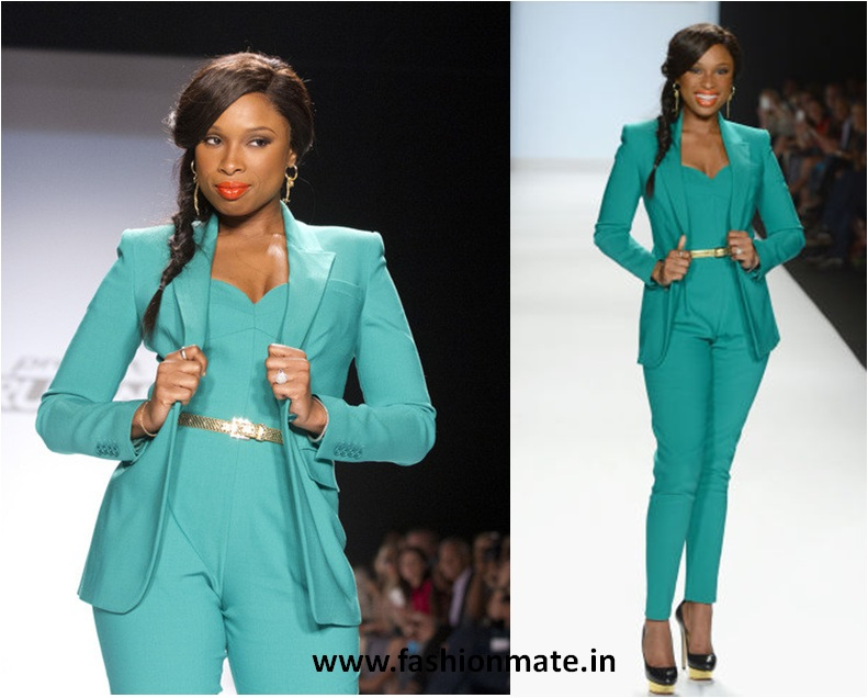 Jennifer Hudson-Candy blue Blazer fashion trend