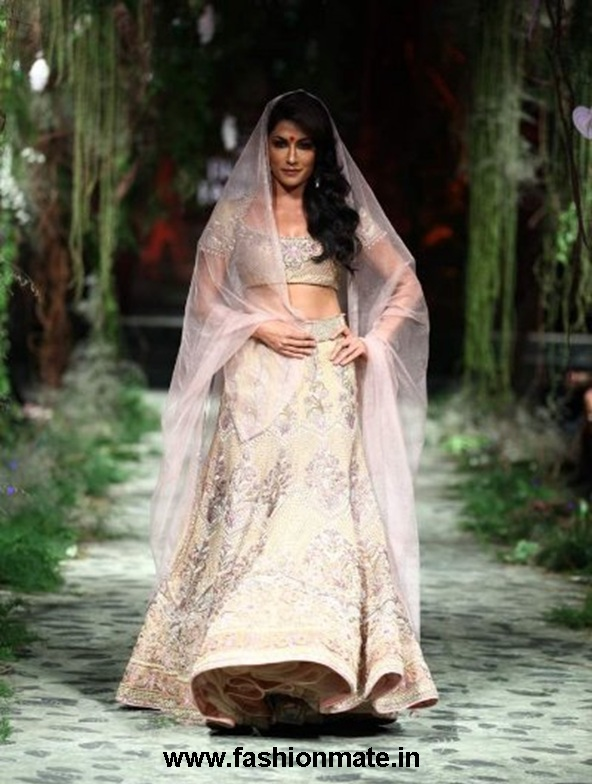 chitrangada singh for tarun tahiliani at aamby valley india bridal fashion week 2012