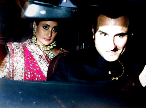 Saif and Kareena at their Wedding Reception in Delhi
