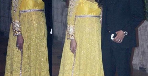 Amrita Arora in Manish Malhotra at Kareena Saif Wedding Ceremony