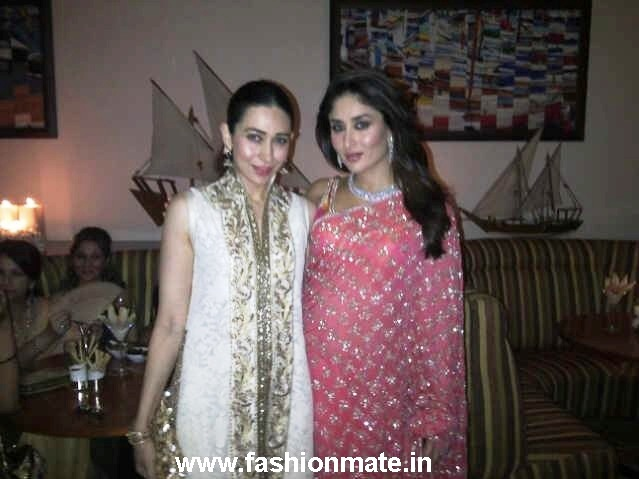 Bride Kareena with Karishma Kapoor at her Mehendi Ceremony