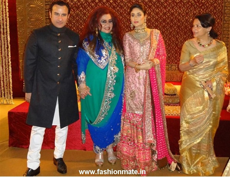 Kareena Kapoor dress at Wedding Reception Delhi