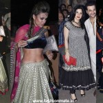 In Sabyasachi: Natasha Poonawala or Mahek Kapoor at Kareena's Wedding