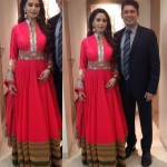 Madhuri Dixit wears Manish Malhotra Anarkali at People's Choice Awards 2012