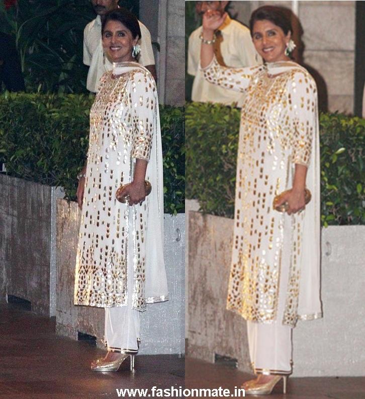 Neetu Singh At Saif Kareena Wedding Reception