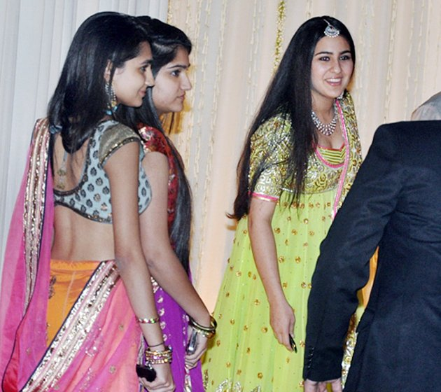 Sara Khan in Saif Kareena Wedding Reception Walima