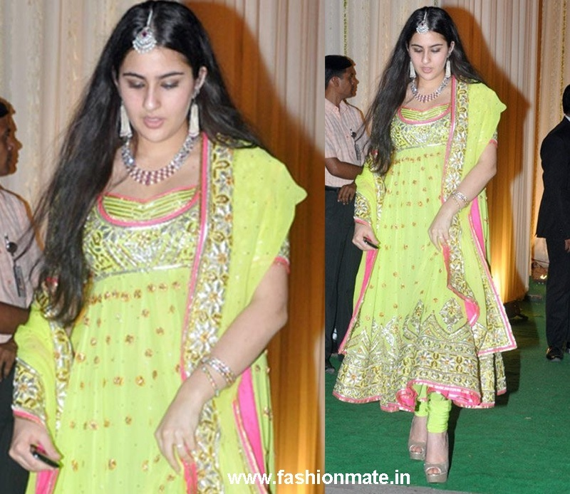 Sara Ali Khan Saif's daughter at Saif Kareena Wedding Reception