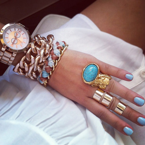 latest fashion trend arm candy blue bracelets
