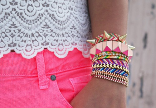 latest fashion: colourfull wrist bracelets arm candy