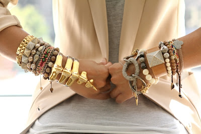 fashionable armcandy chunky gold bracelets