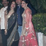 Alvira Agnihotri in Falguni and Shane Peacock at Kareena's Wedding Reception