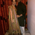 Sister Karishma Kapoor in Manish Malhotra at Kareena's Sangeet