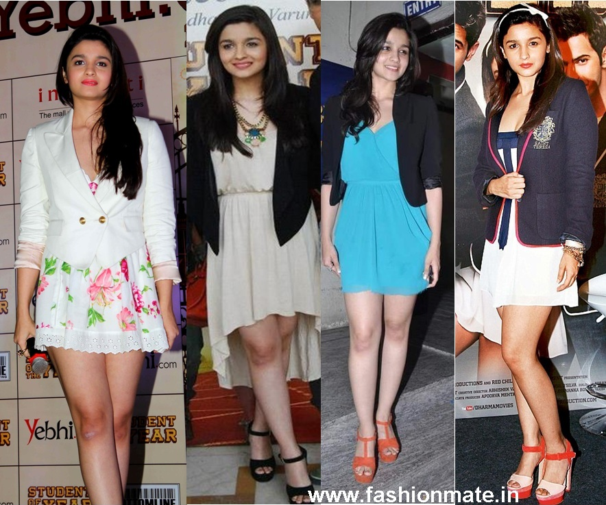 Newbie Alia Bhat's (@Aliaa08) Fashion round-up for SOTY Promotions ...