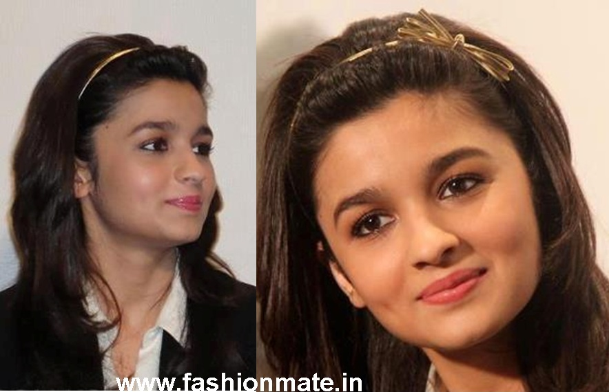 Alia's three-knot golden bow headband