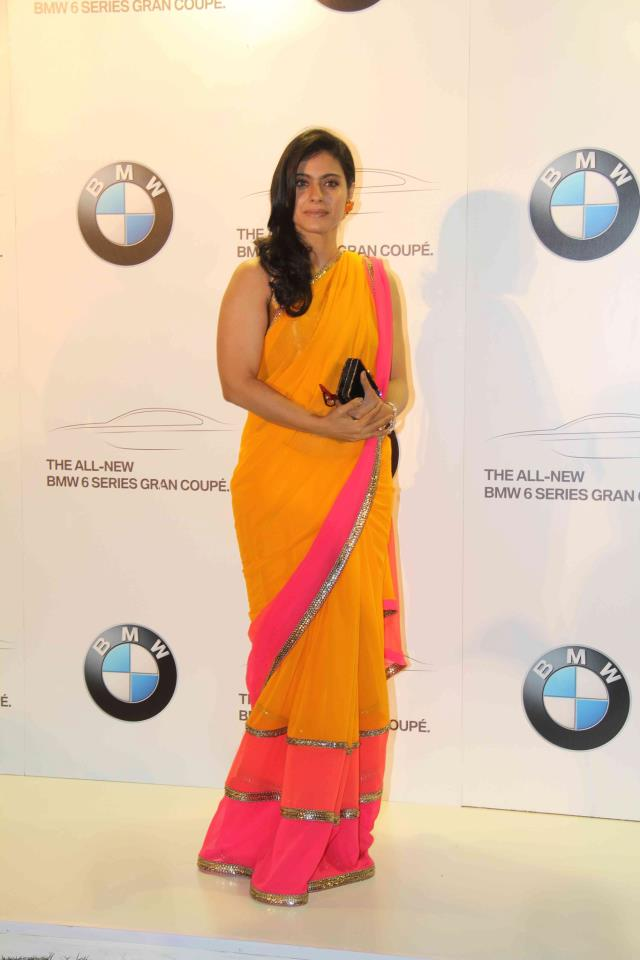 Kajol for manish malhotra show BMW