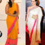 Kajol in Manish Malhotra Saree Twice!