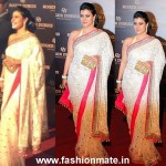 Kajol looks ravishing in Manish Malhotra (@ManishMalhotra1) Saree in Dubai