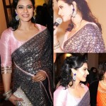 Kajol in Shehla Khan Saree at Pratham UK Gala
