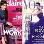 In Dior: Soha Ali Khan and Shweta Nanda (Bachchan) for Marie-Claire and Vogue