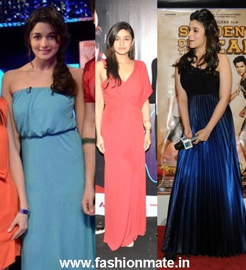 alia in gown at SOTY promotions KBC,anupama chopra | Fashion Mate ...