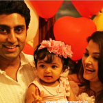 Aaradhya bachchan 1st Birthday pictures with Ash and Abhi.