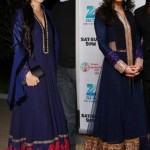 In Manish Malhotra (@ManishMalhotra1): Katrina Kaif and Diya Mirza Blue Anarkali