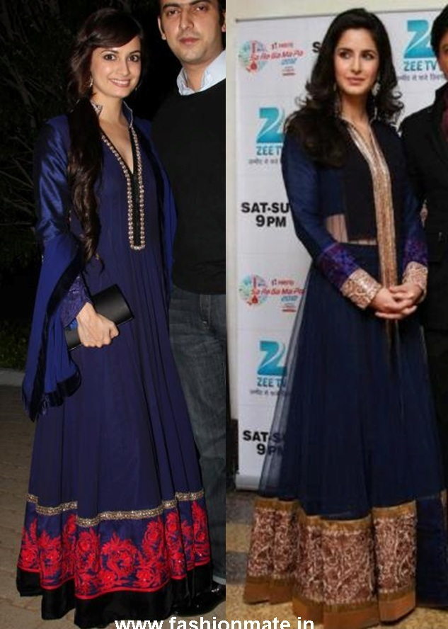 In Manish Malhotra (@ManishMalhotra1): Katrina Kaif and Diya Mirza