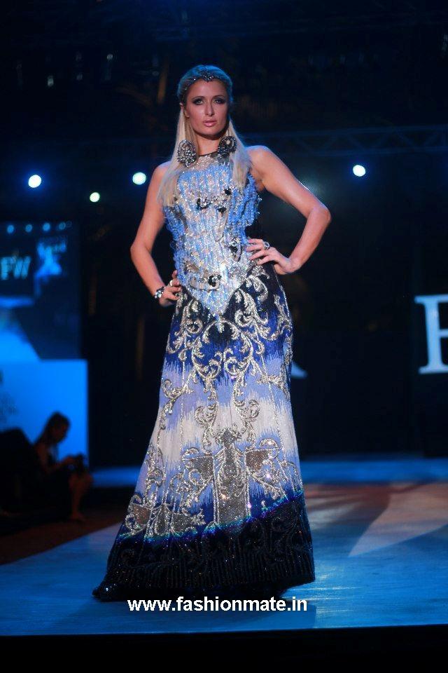 Paris hilton india resort fashion week goa- falguni shane peacock