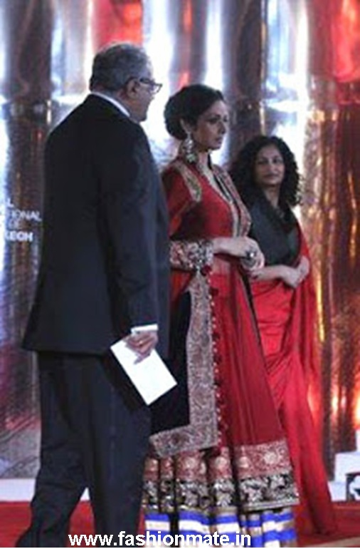 sridevi in manish malhotra at Marrakech international film festival 12th anniversary