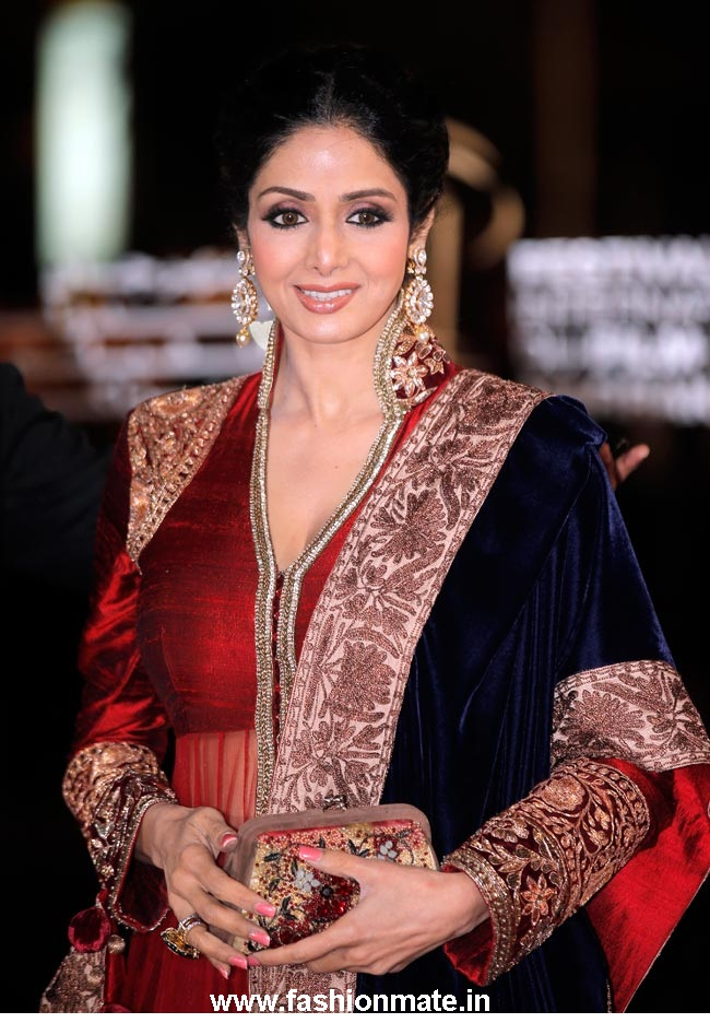 sridevi in manish malhotra at Marrakech international film festival