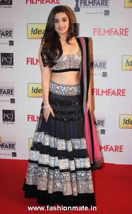 Alia Bhatt Manish Malhotra filmfare 2013