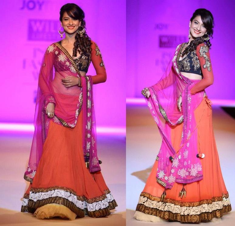 Gauhar Khan-Joy-Mitra-WIFW-2013