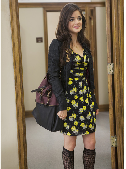 Selena Gomes in Printed Dress
