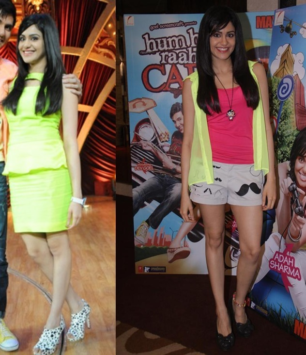 Adah Sharma dons florescent hues-fashion 2013