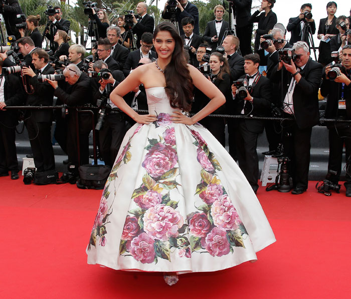 Sonam Kapoor in Dolce & Gabbana at Cannes