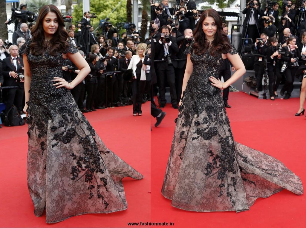 Aishwarya rai bachchan Elie Saab at Cannes 2013
