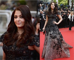 Aishwarya Rai in Elie Saab at Cannes 2013