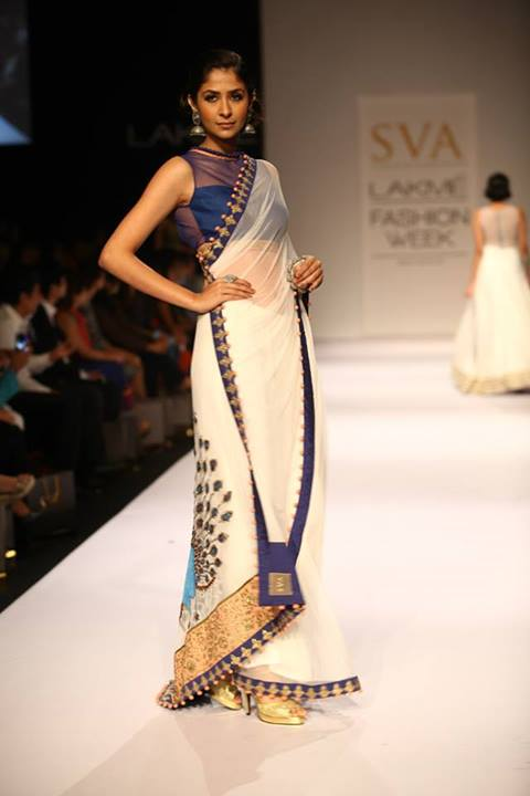 Prachi Desai For Designer Sva Couture At Lakme Fashion
