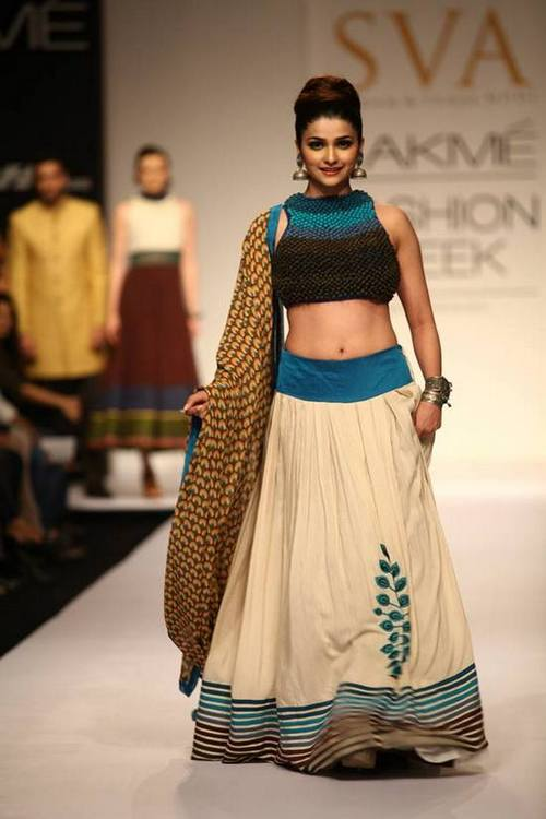 Actress Prachi Desai for SVA Couture at Lakme Fashion Week winter festive 2013
