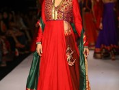 Juhi Chawla for Shruti Sancheti at Lakme Fashion Week winter festive 2013