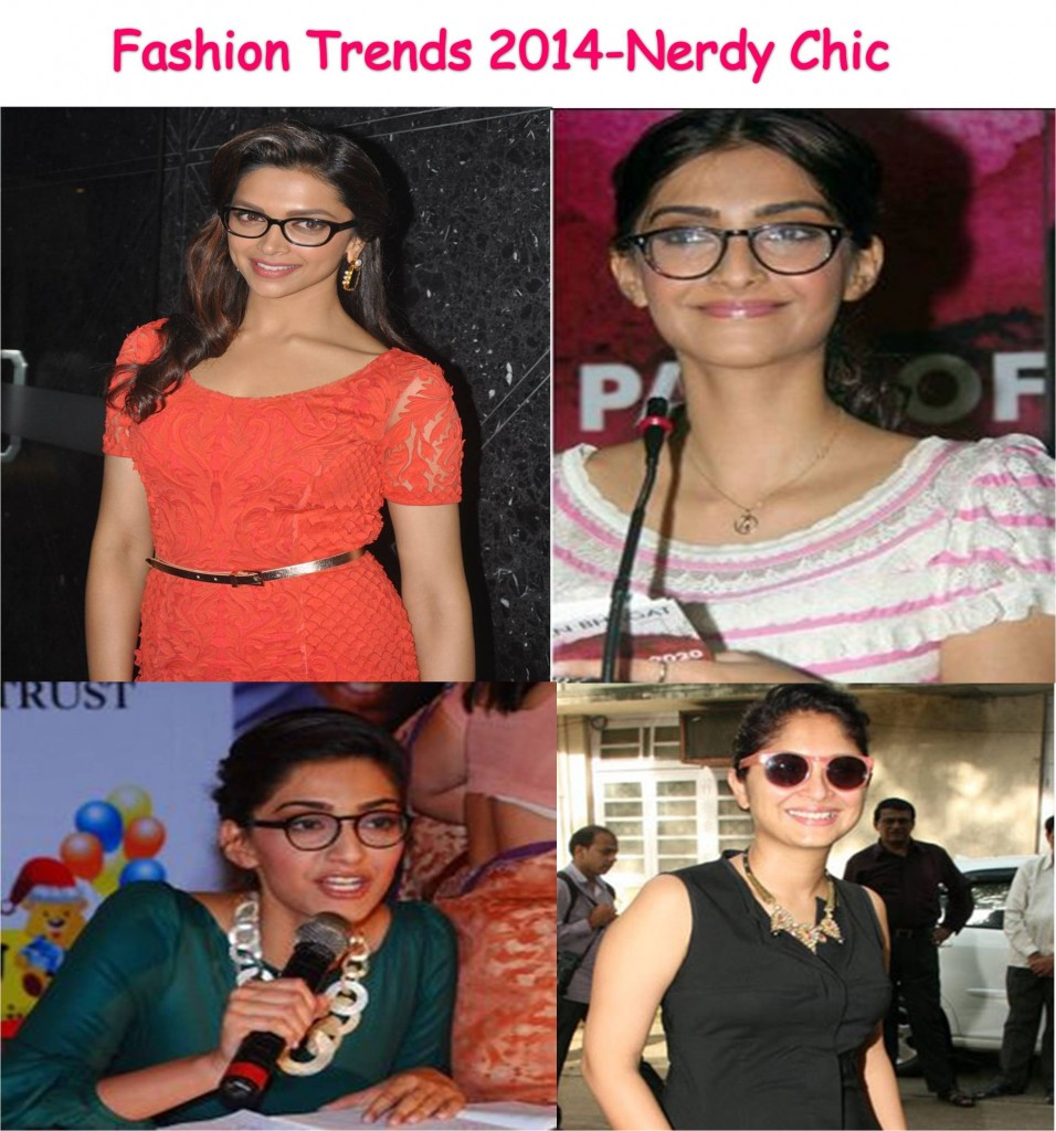Deepika Padukone, Sonam Kapoor and Kiran in quirky nerd glasses fashion 2014