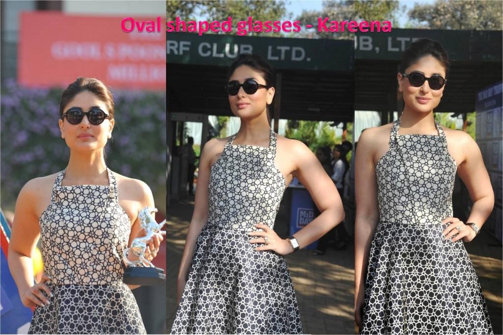 Oval shaped glasses Kareena Kapoor Fashion 2014