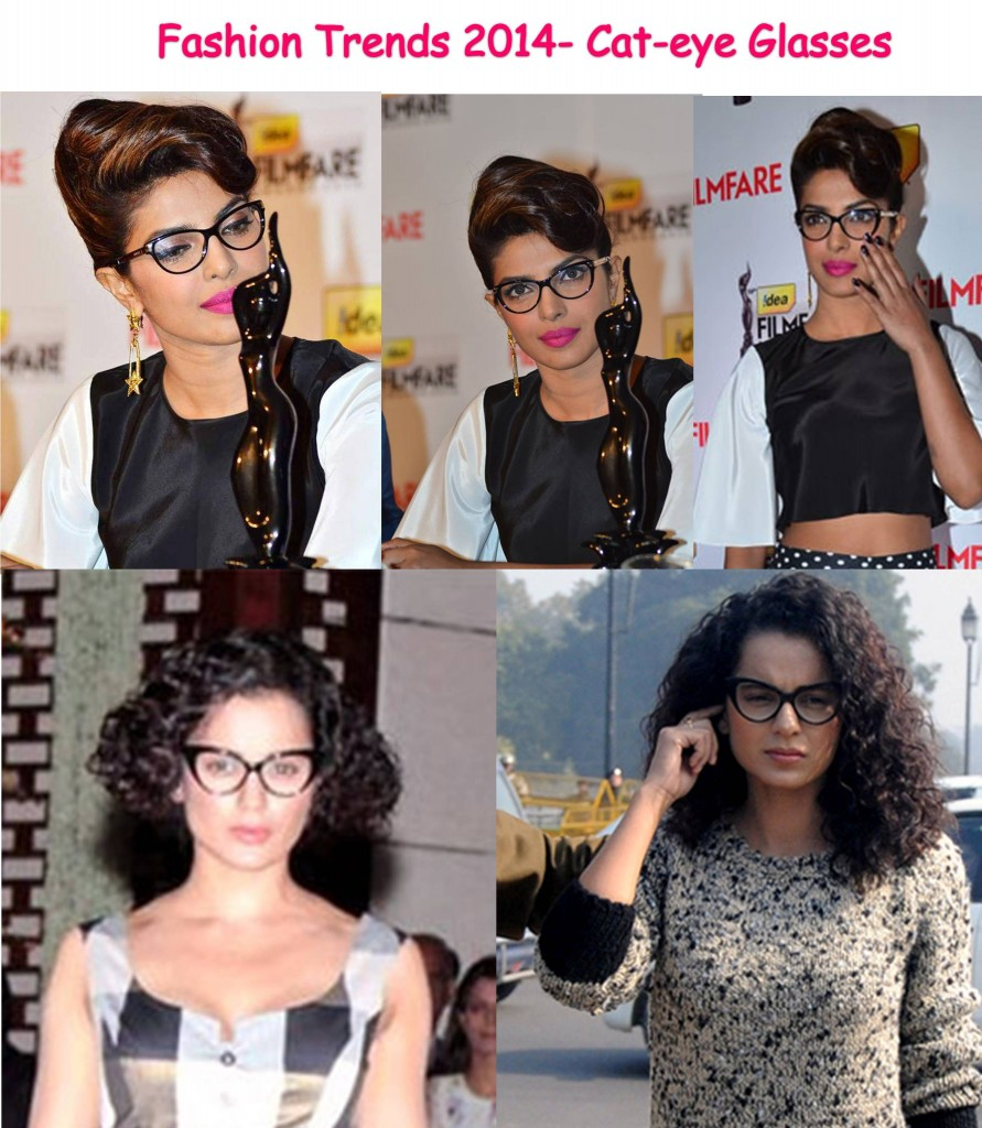 Priyanka and Kangana in Cateye glasses