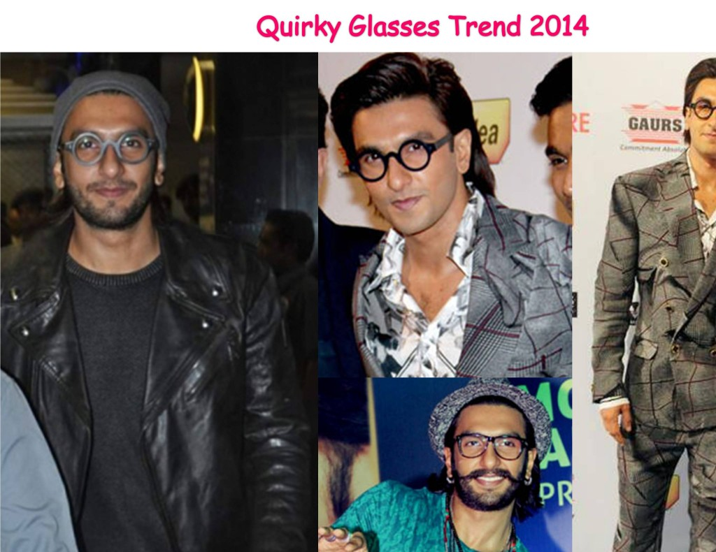 Ranveer Singh in Quirky Glasses 2014 fashion trend
