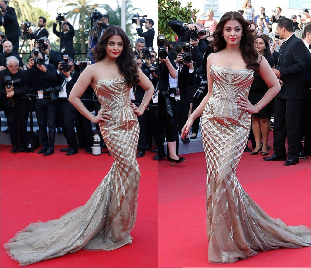 Actress Aishwarya rai bachchan at Cannes 2014