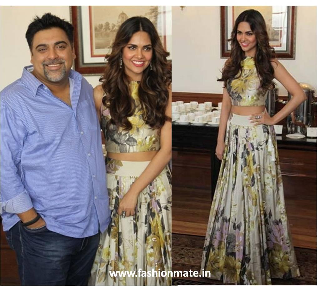Esha gupta in manish malhotra outfit 2014