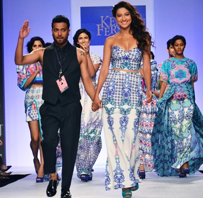 Ken Ferns Lakme Fashion Week 2014 Gauhar Khan